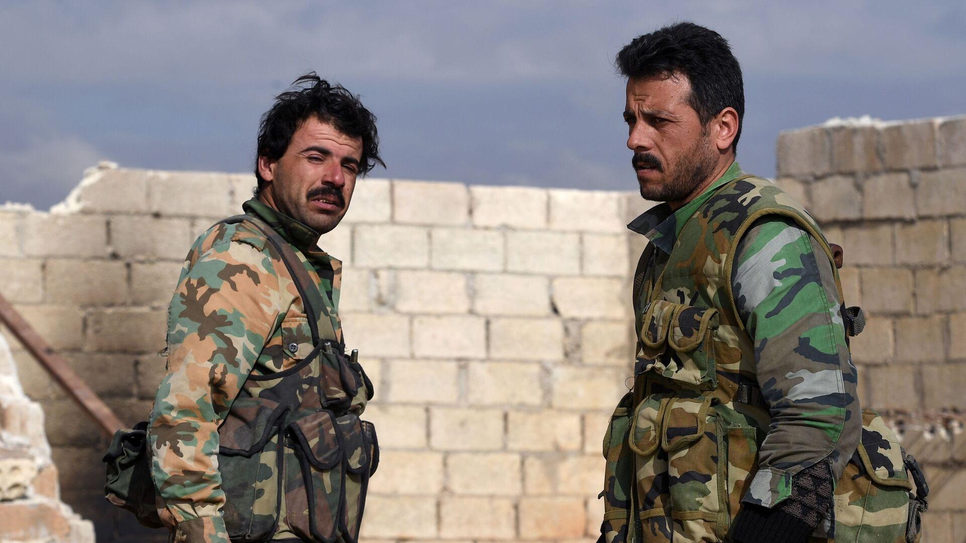 Los militares del Ejército sirio  - Sputnik Mundo, 1920, 02.07.2021