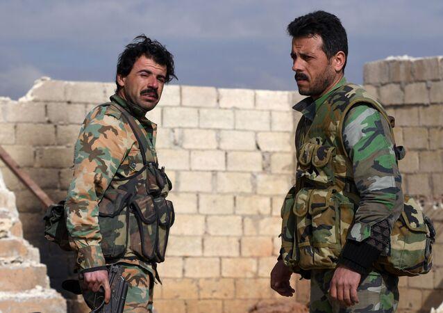 Los militares del Ejército sirio (archivo)