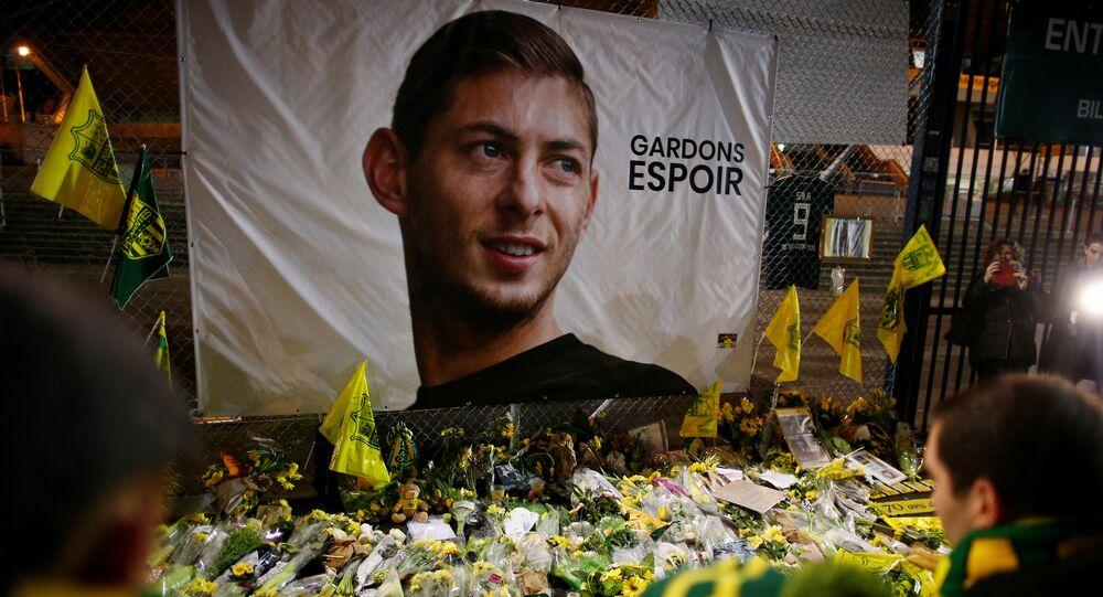 Homenaje al futbolista argentino Emiliano Sala