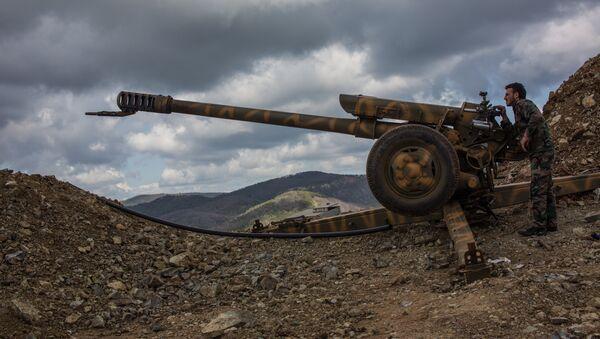La artillería del Ejército sirio (Archivo) - Sputnik Mundo
