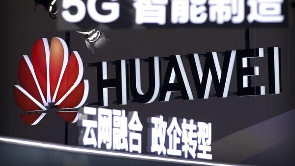 El logo de Huawei y 5G - Sputnik Mundo