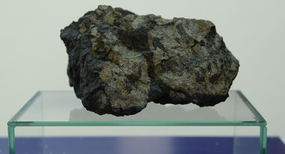 Un trozo del meteorito de Cheliábinsk