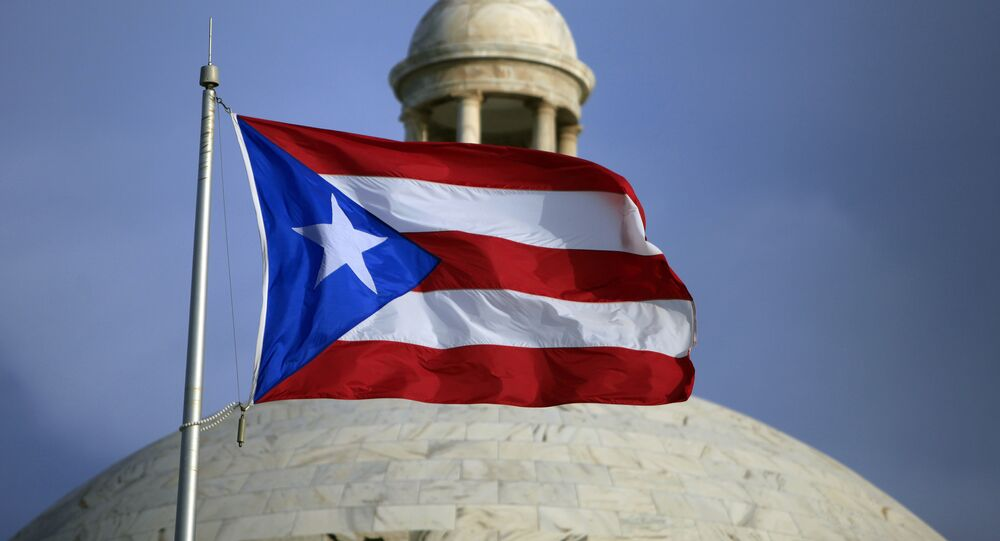 La bandera de Puerto Rico