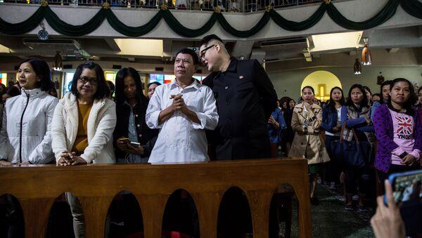 Los dobles de Rodrigo Duterte y Kim Jong-un - Sputnik Mundo