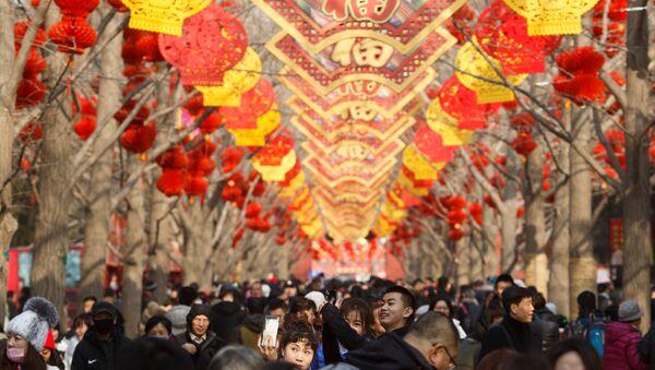 Los chinos celebran el Año Nuevo - Sputnik Mundo