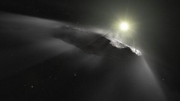Oumuamua (ilustración artística) - Sputnik Mundo