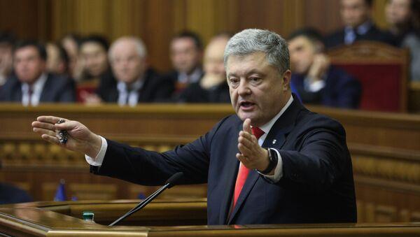 El presidente de Ucrania, Petro Poroshenko - Sputnik Mundo