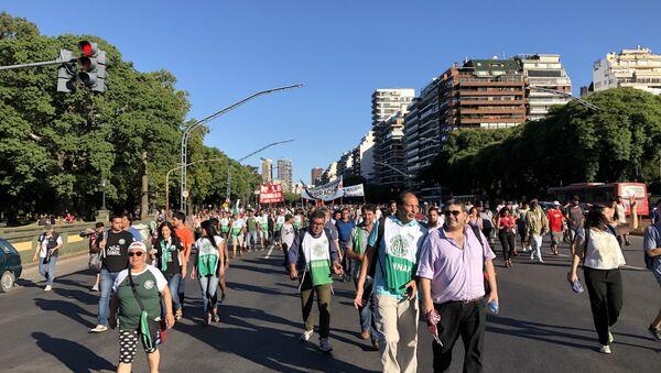 Marcha en Argentina contra la intervención de EEUU - Sputnik Mundo