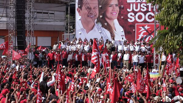 Partidarios del Frente Farabundo Martí para la Liberación Nacional (FMLN) en El Salvador - Sputnik Mundo