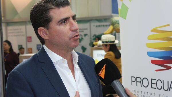 El ministro de Agricultura y Ganadería de Ecuador, Xavier Lazo - Sputnik Mundo
