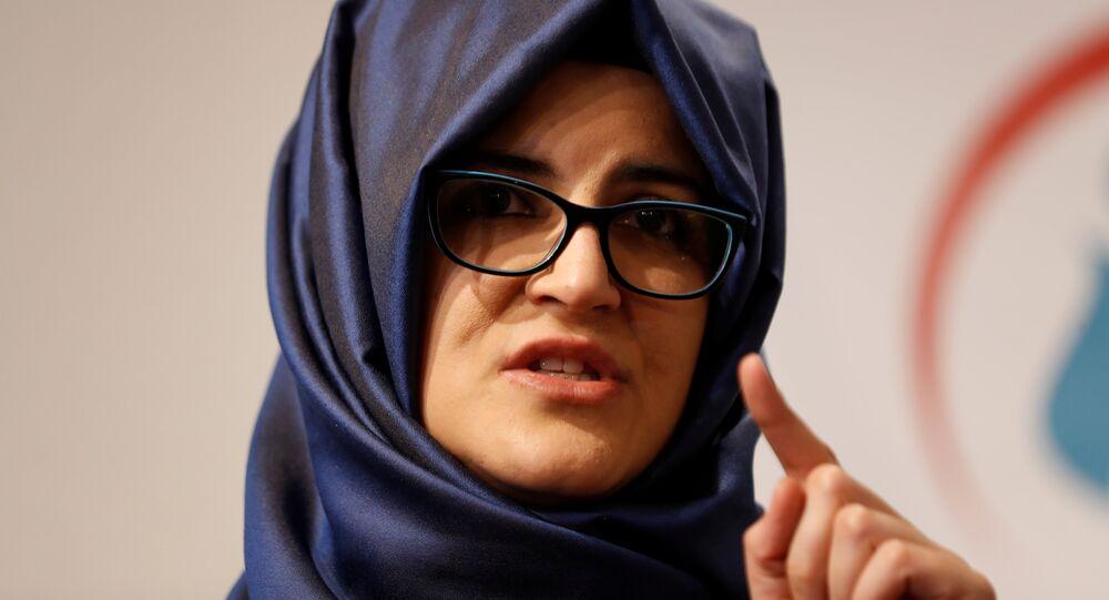 Hatice Cengiz, novia del periodista saudí asesinato Jamal Khashoggi