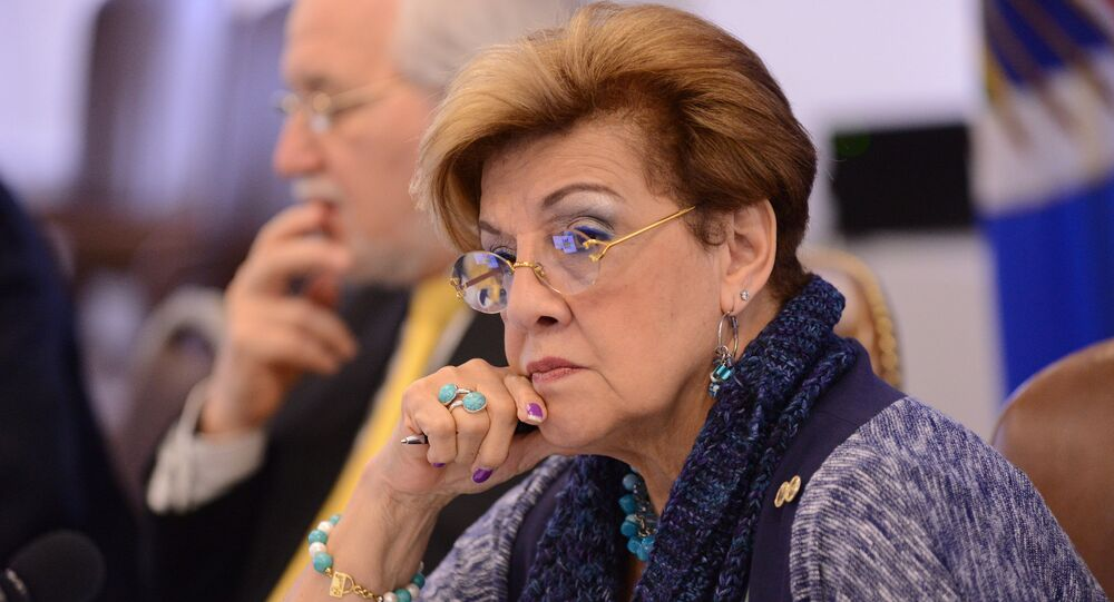 Esmeralda Arosemena de Troitiño, presidenta de la Comisión Interamericana de Derechos Humanos (CIDH)