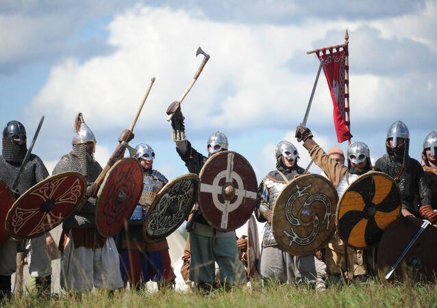 Reconstrucción histórica de la batalla de los vikingos