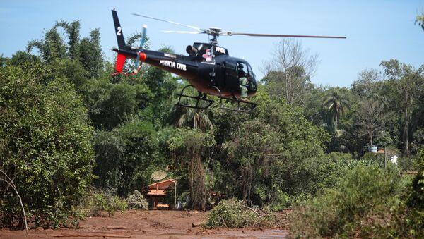 La búsqueda de víctimas en la región de Brumadinho, Brasil - Sputnik Mundo