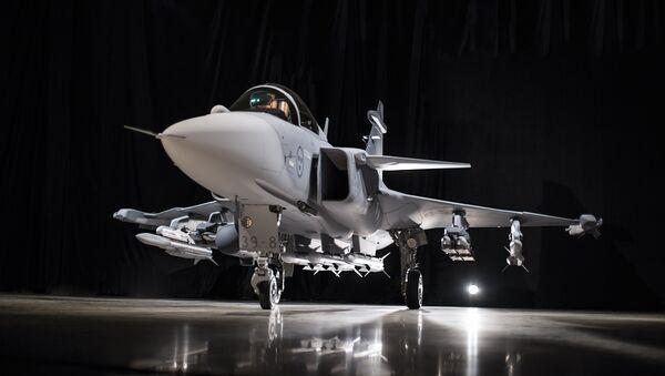 Un caza Saab Gripen E - Sputnik Mundo