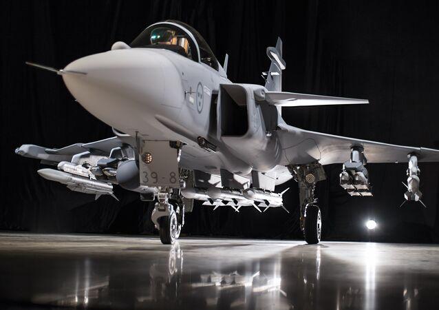 Un caza Saab Gripen E