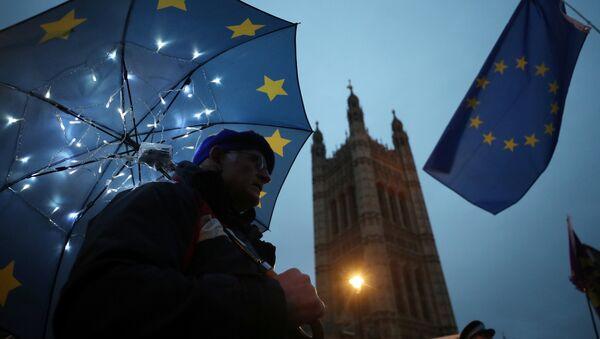 La bandera de la UE en Londres - Sputnik Mundo
