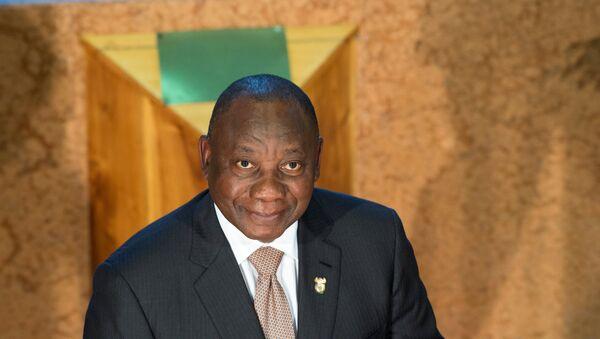 Cyril Ramaphosa, presidente de Sudáfrica - Sputnik Mundo