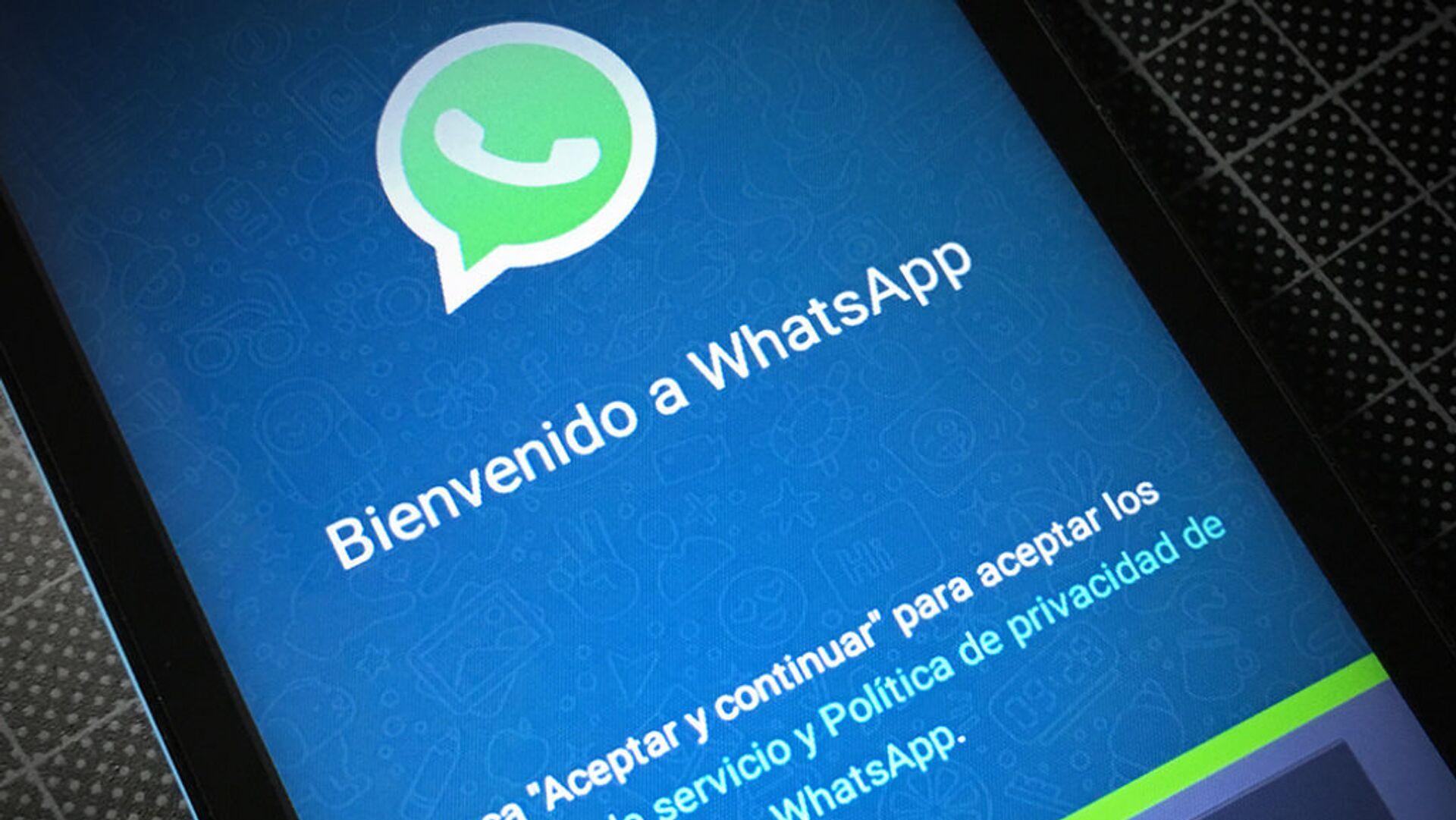 La aplicación de WhatsApp - Sputnik Mundo, 1920, 21.04.2021
