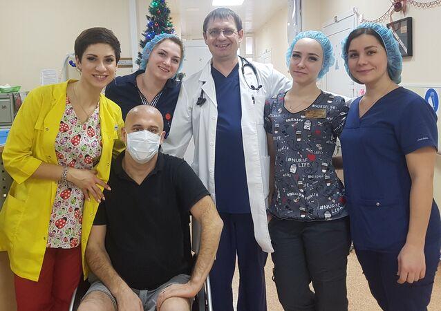 Damien Gerace, en la clínica hematológica