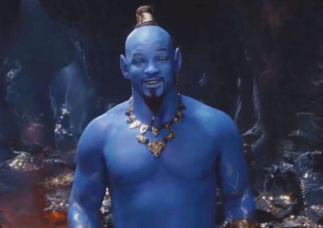 Will Smith en la película Aladdín