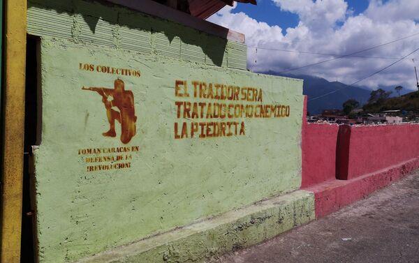 Mural en La Piedrita, mensaje a los Traidores - Sputnik Mundo