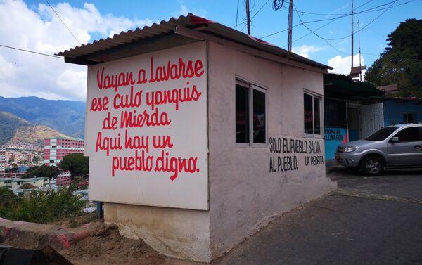 Mural en La Piedrita, mensaje a los Yanquis - Sputnik Mundo