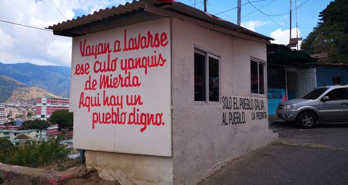 Mural en La Piedrita, mensaje a los Yanquis