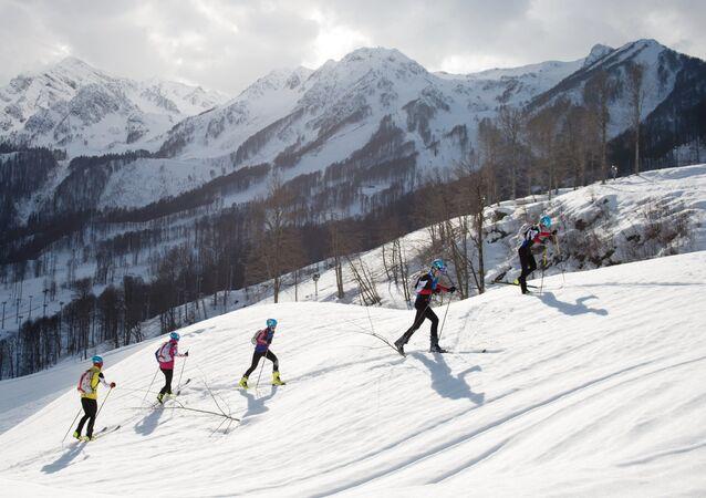 Entrenamiento de esquí-alpinismo en Sochi, Krásnaya Poliana (archivo)