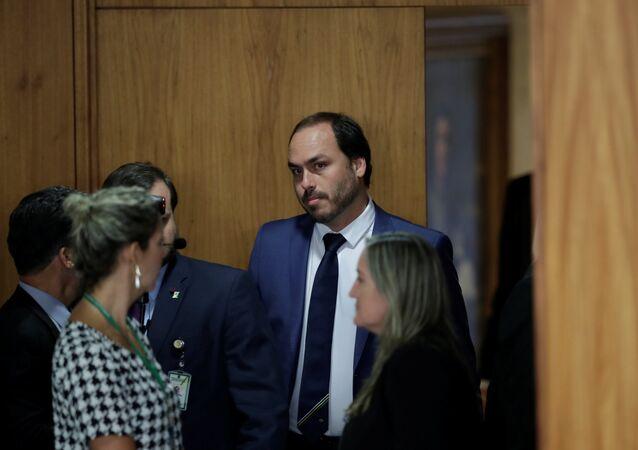 Carlos Bolsonaro, uno de los hijos del presidente brasileño