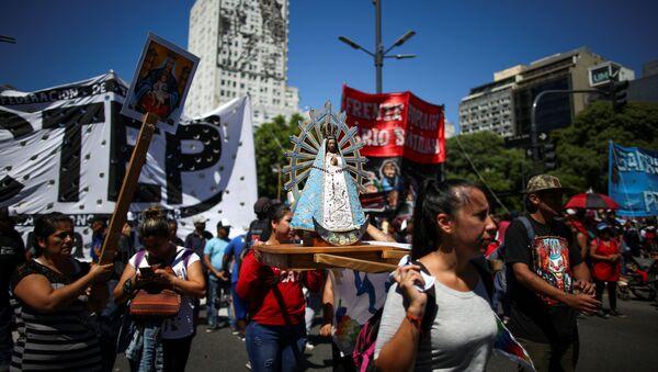 Manifestación en Buenos Aires - Sputnik Mundo