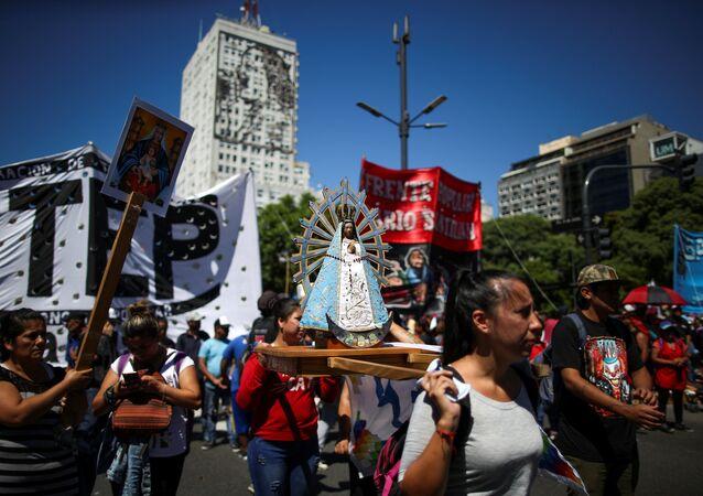 Manifestación en Buenos Aires