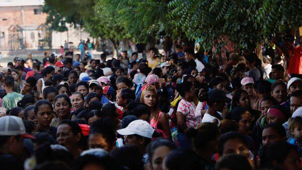 Migrantes venezolanos en Colombia - Sputnik Mundo