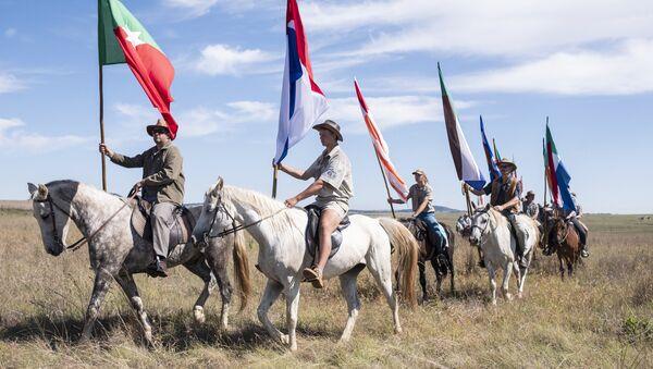 Bóeres con banderas nacionales (imagen referencial) - Sputnik Mundo