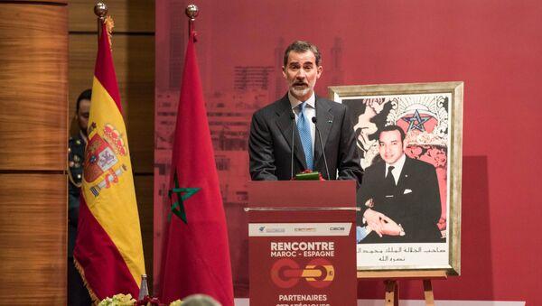 El rey de España, Felipe VI, en Marruecos - Sputnik Mundo