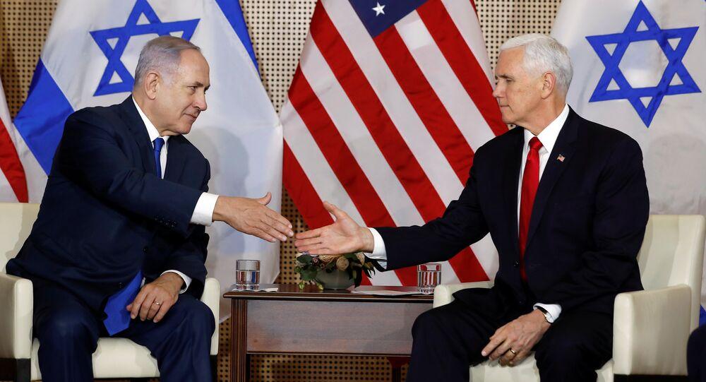 El primer ministro de Israel, Benjamin Netanyahu, y el vicepresidente de EEUU, Mike Pence