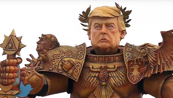 Trump, el 'emperador de la humanidad' 'conquista' una calle de Italia - Sputnik Mundo
