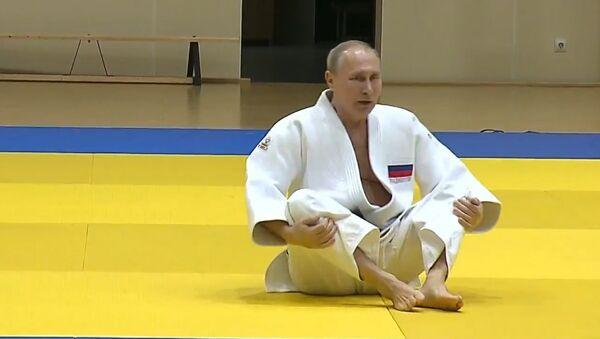 Putin se lesiona un dedo durante un entrenamiento de judo - Sputnik Mundo