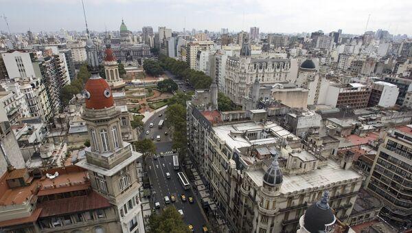 Una vista de la Avenida de Mayo en Buenos Aires - Sputnik Mundo