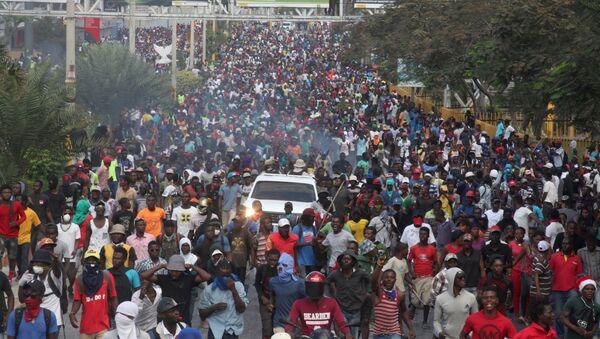 Protestas en Haití - Sputnik Mundo