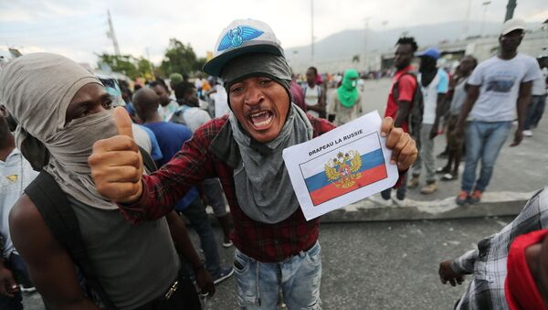 Manifestaciones en Haití - Sputnik Mundo
