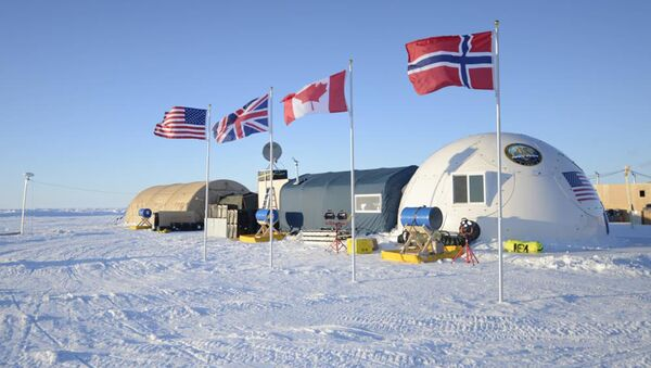 Campamento militar de EEUU, Reino Unido, Canadá y Noruega en el Ártico (archivo) - Sputnik Mundo