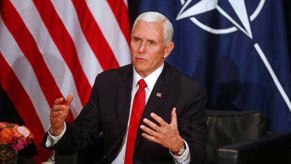 El vicepresidente de EEUU, Mike Pence, habla en la Conferencia de Seguridad de Múnich - Sputnik Mundo