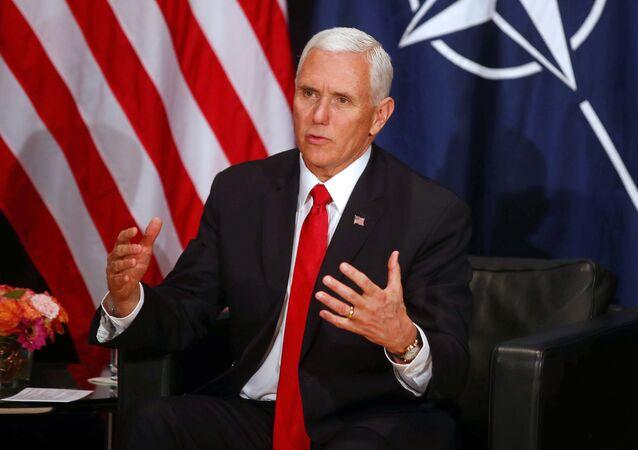 El vicepresidente de EEUU, Mike Pence, habla en la Conferencia de Seguridad de Múnich