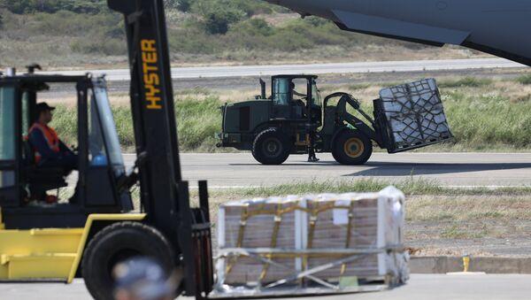 Ayuda Humanitaria llega al aeropuerto Camilo Daza en Cúcuta, Colombia - Sputnik Mundo