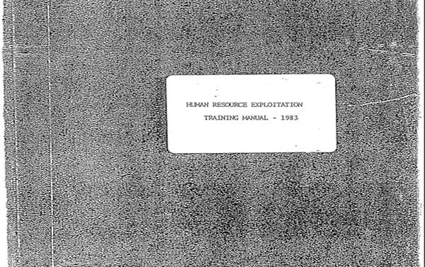 Human Resource Exploitation Training Manual, 1983 ('Manual de Entrenamiento para la Explotación de Recursos Humanos') - Sputnik Mundo