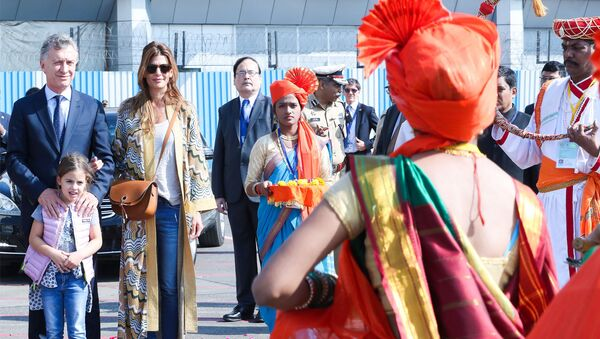 El presidente de Argentina, Mauricio Macri, de visita oficial en la India - Sputnik Mundo