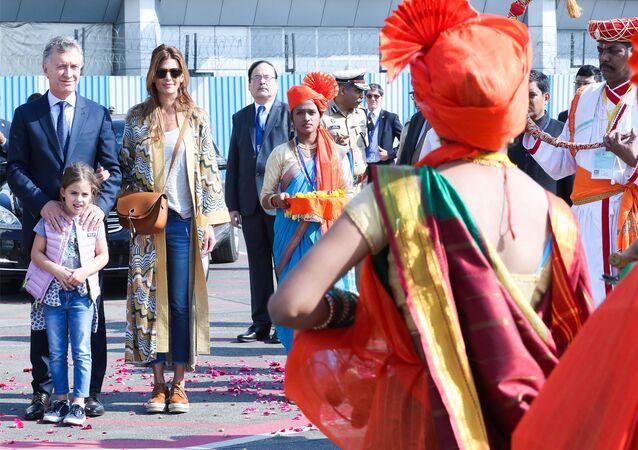 El presidente de Argentina, Mauricio Macri, de visita oficial en la India