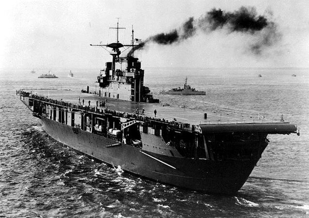 El portaaviones USS Hornet de la Armada de EEUU, 1941