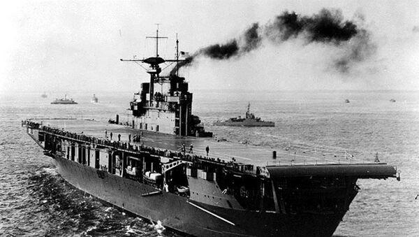 El portaaviones USS Hornet de la Armada de EEUU, 1941 - Sputnik Mundo
